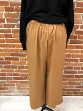 Load image into Gallery viewer, Morocco Wide-Leg Trousers in Cognac
