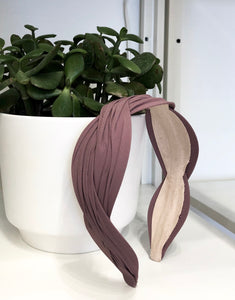 Wave Headband in Plum