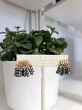 Load image into Gallery viewer, Joanne Beaded Studs in Charcoal