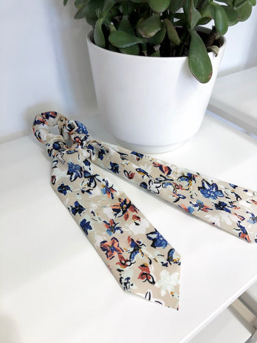 Scarf Scrunchie in Watercolor Florals