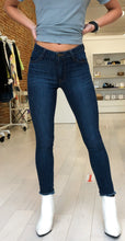 Load image into Gallery viewer, Kate Skinny Denim in Dark Wash with Frayed Hem