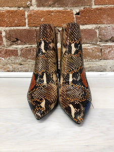 Fleur Block Heel Bootie in Color Snake