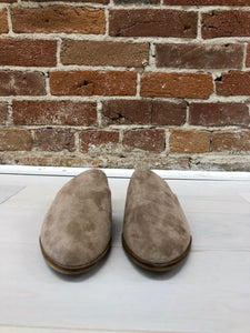 Ginny Faux Suede Mules in Taupe