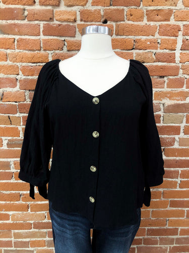 Luciana Blouse in Black