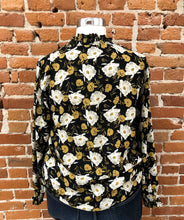 Load image into Gallery viewer, Chandler Floral Blouse in Black-FINAL SALE