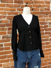 Load image into Gallery viewer, Sandra Blouse in Black