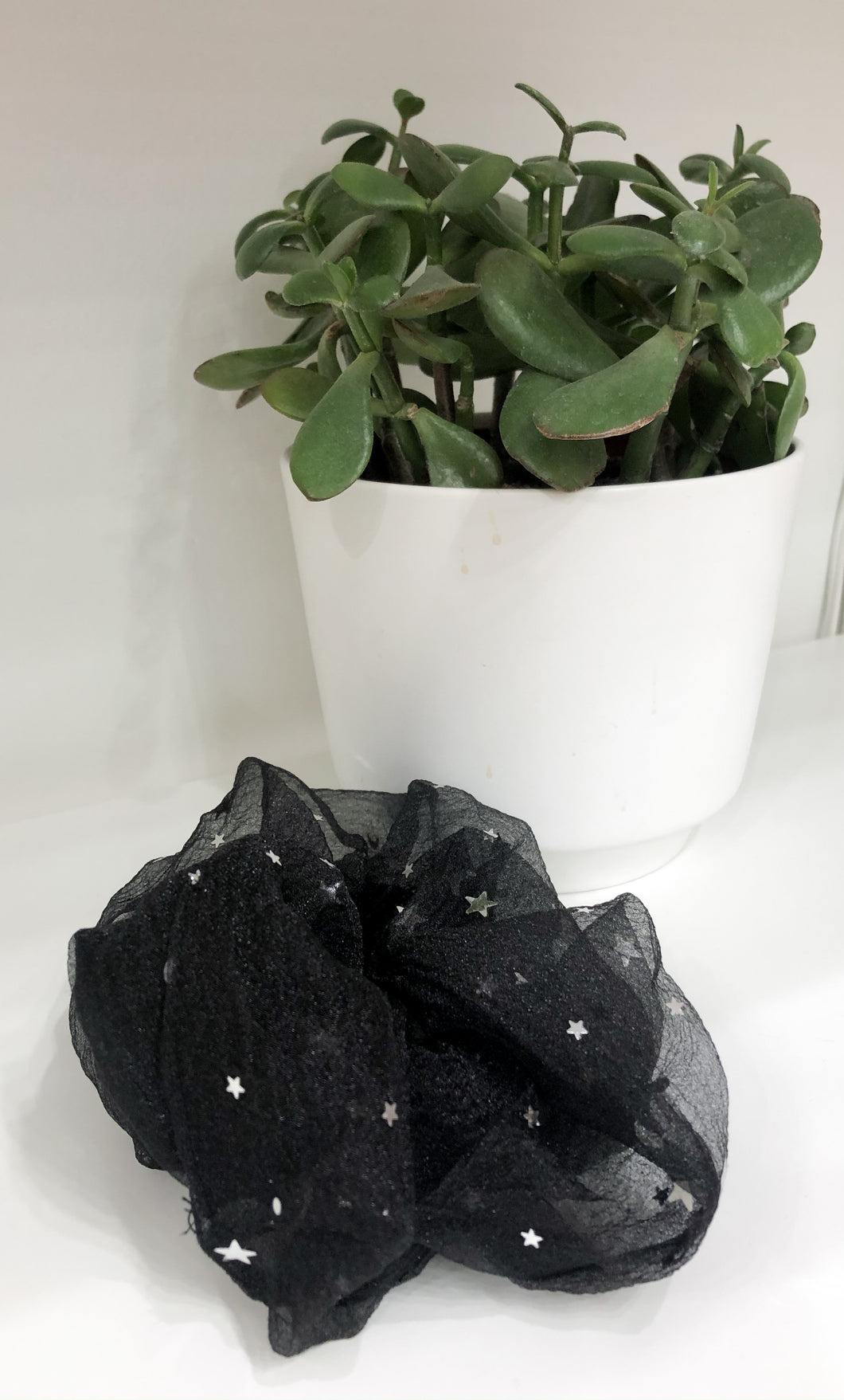 Black Sheer Star Scrunchies
