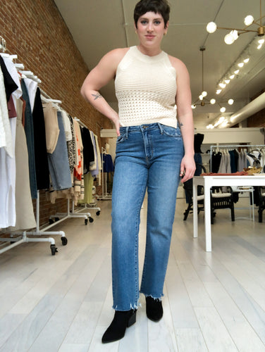 Abigail Vintage Straight Denim in Medium Wash