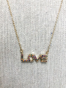 Love Jeweled Necklace