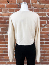 Load image into Gallery viewer, Tanvi Cropped Button Blouse in Sand - FINAL SALE