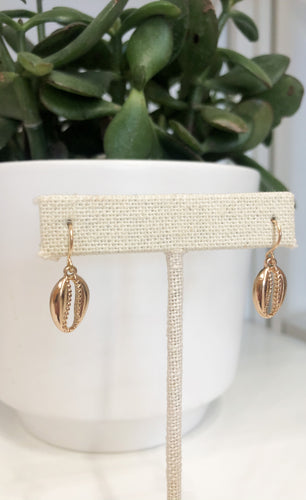 Gold Shell Dangle Earrings - FINAL SALE