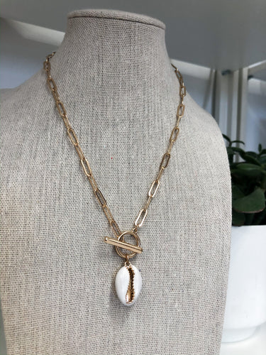 White Shell Layering Necklace