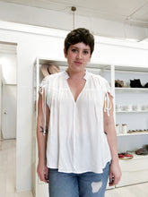 Load image into Gallery viewer, Sylvester V-Neck Woven Top in Ivory
