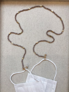 Melinda Convertible Chain for Sunglasses or Mask in Ash Rose