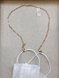 Delicate Paperclip Gold Mask Chain