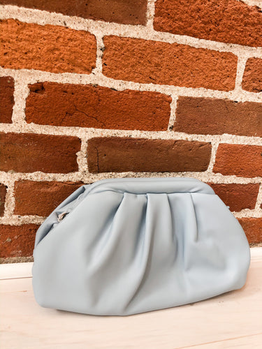 Larkspur Clutch in Light Blue