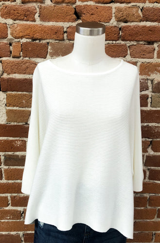 Samberg Knit Short Sleeve Sweater in Cream