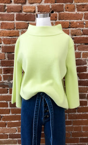 Mock Neck in Lime