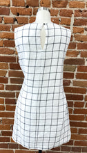 Load image into Gallery viewer, Longoria Checkered Cream and Black Side Tie Dress