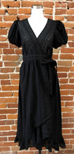 Load image into Gallery viewer, Beth Puff Sleeves Dress in Black