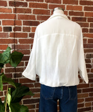 Load image into Gallery viewer, Karen Front Tie Button Up Shirt in White