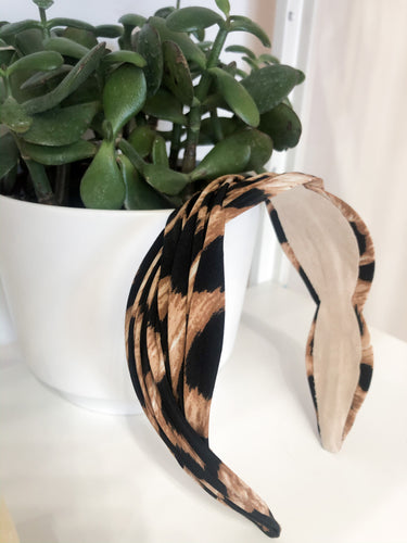 Wave Headband in Leopard Print