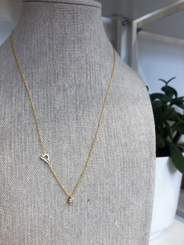 Libra Zodiac Necklace in Gold