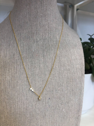 Sagittarius Zodiac Necklace in Gold