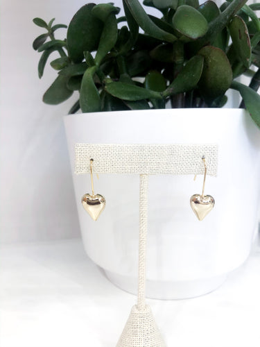 Sweetheart Drop Gold Earrings