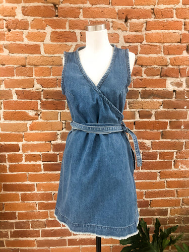 Debbie Denim Wrap Dress