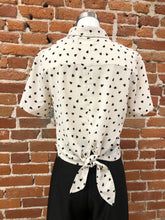 Load image into Gallery viewer, Artemis Patterned Tie Up Top in Cream