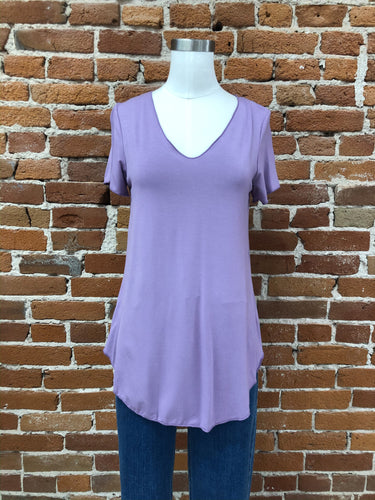 Everyday Short Sleeved Tee in Orchid