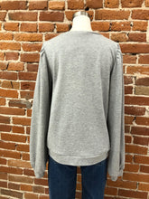 Load image into Gallery viewer, Linda Puff Sleeve Top in Heather Grey