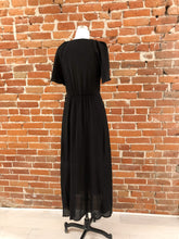 Load image into Gallery viewer, Madelyn Wrap Maxi Dress in Black