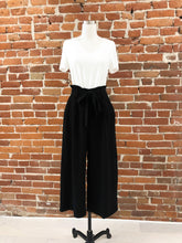 Load image into Gallery viewer, Kelci High Waisted Paperbag Textured Pants in Black