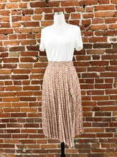 Load image into Gallery viewer, Ward Pleated Slit Midi Skirt in Taupe