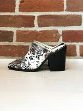 Load image into Gallery viewer, Mia Mules in Snake - FINAL SALE