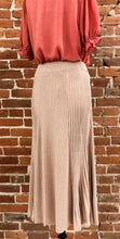 Load image into Gallery viewer, Milo Midi Length Sweater Skirt in Metallic Dusty Rose - FINAL SALE