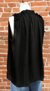 Serena Sleeveless Blouse in Black