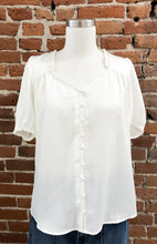 Load image into Gallery viewer, Phillip Sleeveless Button Down Top in Ivory