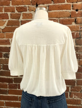 Load image into Gallery viewer, Simone Round Neckline Sweater Top in White