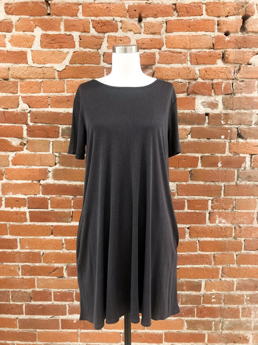 Elaina Shift Dress in Charcoal