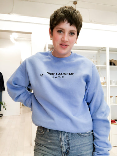Aint Laurent Sweatshirt in Cornflower
