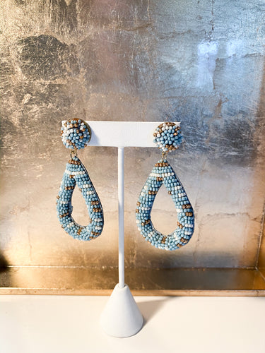 Fajardo Beaded Earrings in Blue
