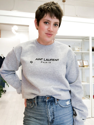 Aint Laurent Sweatshirt in Heather Grey