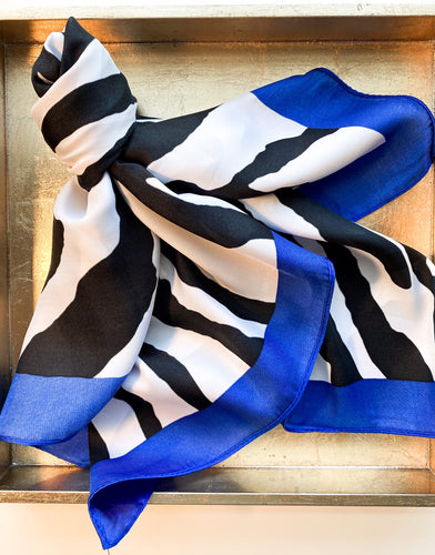 Boston Zebra Scarf in Royal