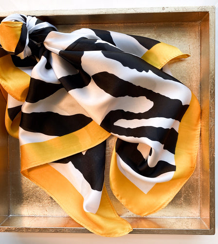 Boston Zebra Scarf in Bright Gold