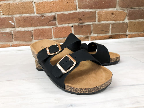 Canyon Sandals in Black