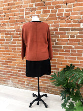 Load image into Gallery viewer, Kimora Fuzzy Cardigan in Rust