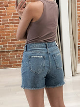 Load image into Gallery viewer, Norah Distressed Shorts in Light Wash